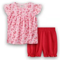Clothing Sets Floral Baby Girls 2-Pieces Clothes Suit Born Jumpsuits Girl's Blouse Shorts Pants Children Dress Summer Toddler Outfit Cotton