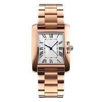 New Casual Women Quartz Watch Elegant Fashion Watches 3Bar Waterproof Stainless Steel Strap Rose Gold Wrist watch