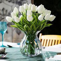 Moda Tulipani artificiali Fiori domestica decorazione giardino Real Touch Flower Bouquet Birthday Party Decorazione di nozze Flower Flower 14 Colori