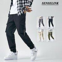 Erkek Pantolon Senselink M-8XL Bahar Tulum Klasik Açık Saf Pamuk Rahat Çok Cep Pantolon