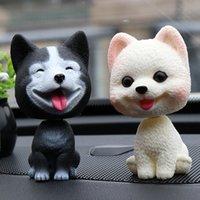 Auto agitazione testa cane ornamenti bobblehead cane annuendo cucciolo giocattoli auto dashboard decorazione giocattolo wobble scuotimento testa bambole auto casa stanza