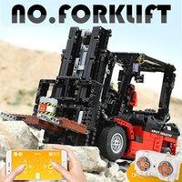 Технический грузовик для погрузчика 13106 1719PCS серии APP RC модель строительные блоки кирпичи для сборки рождественских игрушек подарки