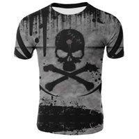 Nuovo prodotto Creativo Vendita calda Skull Fashion 3D Digital Stampa T-Shirt Estate Traspirante e confortevole Uomini e donne Casual S
