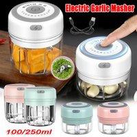 100 / 250ml Mini USB Kablosuz Elektrikli Öğütücü Sarımsak Masher Sağlam Basın Kıyma Sebze Biber Et Gıda Chopper Mutfak Aletleri