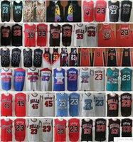 NCAA North Carolina Nova XX Equipe 23 Michael JD 45 MJ Scottie 33 Pippen Dennis 91 Rodman Atacado Retro Basketball Jerseys