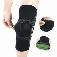 Mulheres Homens Summer Running Protetor Protetor de Suor Absorção Pressurizada Desgaste Elástico Dor Relevo Não Slip Sports Knee Brace