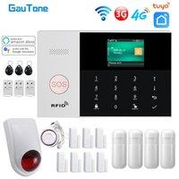 GAUTONE PG105 TUYA 4G 3G GSM Alarmsystem Home Security mit Rauchmelder Wireless Sirene Support Smart Life App Control