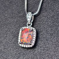 HBP fashion 2021 new multicolor square opal necklace with zircon inlaid Pendant