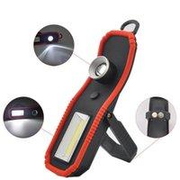 LED Wrok Işık COB USB Şarj Edilebilir Çalışma Lambası COB Manyetik Açık Kamp Torch Taşınabilir Yürüyüş Fener Floodlight