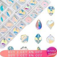 Otra calidad Super Shiny AB Crystal Beads Watdrop Glass Cabochon Lampwork para la fabricación de joyas DIY 28pcs / lot