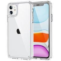 Acrylique Clear Coches Cover Couverture anti-rayures Hard Coquille arrière transparente dure avec un bord doux pour iPhone 13 mini 11 pro 12 6.1
