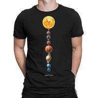 Men's T-Shirts Mens T-Shirt PLANETS Astronomy Space Sun Moon Stars Telescope Novelty Top