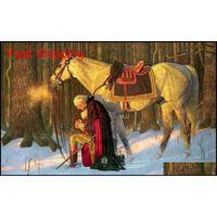 George Washington, Dua, Vadi Forge Handpainted HD Baskı Savaşı Askeri Sanat Yağlıboya Tuval Üzerine, Çok Si Qylepi HOMES2007