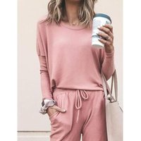Women's Two Piece Pants Women Tracksuit 2 Sets Lady Casual Outfits Spring Autumn Long Sleeve Sweatshirts Sports Suits Female Training