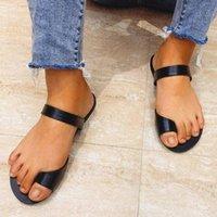 Doratasia 2020 دروبشيب لينة جلدية وهمية الوجه يتخبط شقة الصيف شاطئ عطلة صندل أحذية النعال النساء Z2NM #