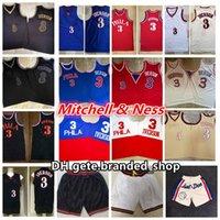 Mitchellness Vintage Hommes Philadelphie Allen 3 Iverson Rookie Bull Swingman Mesh Broderie Logos 96-97 97-98 Maillots de basket de basket-ball cousus