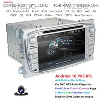 OCTA CORE 4G RAM 64G ROM PX5 Android 2Din DVD DVD GPS Lecteur radio pour Ford C-Max Transit Connect Kuga S-Max Galaxy MONDEO Focus