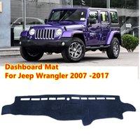 Für Jeep Wrangler JK 2007 ~ 2017 Anti-Slip MAT Sunshade Dashmat Protect Carpet Dashboard Cover Pad Zubehör