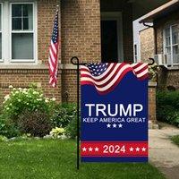 2024 Trump Seçim Afiş Bayrak Kampanyası Bahçe Bayrakları için Başkanlık ABD Dijital Baskı Bannerlar 30 * 45 cm Amerika Tutmak Büyük HWF8081