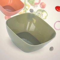 Plastik Kare Meyve Tabağı Salata Kase Gıda Sınıfı Kavun Meyve Tabağı Küçük Snack Şeker Çanak Kurutulmuş Meyve Bowl GWE5218