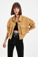 Women's Jackets Trendyol Pocket Detail Denim Jacket TWOAW22CE0284