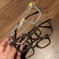 Myopia mujeres decoración hombres lentes gafas de lujo gafas de sol rhinestone vintage damas claro óptico21snull