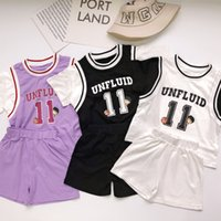 South Korea ins children's holiday 2-piece sports suit boys' and girls' casual loose fitting jerseys