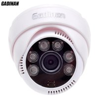 Telecamere Gadinan CMOS 800TVL / 1000TVL 2.8mm Sicurezza dell'obiettivo IR 6 LED ARRAY LED CCTV CCCTV CAM Camer da visione Night Vision Surveillance HD Cupola
