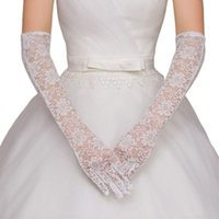 Bridal Gloves Wedding Dress Accessories Charm White Lace With Finger Long Glove Elegant Lady Bride Prom Jewelry