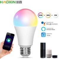 E27 SMART SMART WIFI LED Ampoule RGB 4.5W Ampoule de l'ampoule de LED Dimmable fonctionne avec Alexa Google Home16 millions de couleurs Télécommande