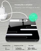Smart Scales 2021 Ванная комната Стеклянная Масштаб для тела Стеклянная Электронная USB Зарядка ЖК-дисплей Взвешивание Домашний Цифровой вес
