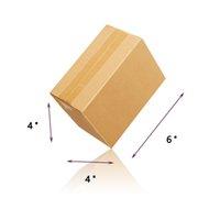 Waco гофрированные коробки почтовые картонные бумаги подарочная коробка, крафт, желтый 6x4x4in (пакет 100)