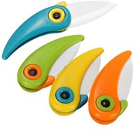 Cooking Tools Mini Bird Ceramic Knife Gift Knife Pocket Ceramic Folding Knives Pocket Kitchen Fruit Paring Knife GWB10663