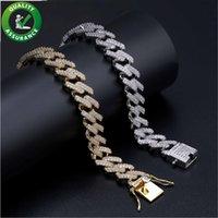 Mens Gold Bracelets Luxury Designer Jewelry Women Bracelet Iced Out Miami Cuban Link Chain Pandora Style Charms Bangle Love Micro Paved CZ