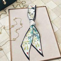 Yiwu Acheter Spring Taro Silk Silk Imitation Sac Poignée Bandage Polyatile Décoration Ruban Ruban Echarpe Fille 21qa