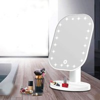 Compact Mirrors Desktop White Portable Switch Touch Screen Black LED Mirror