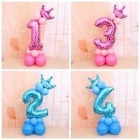 Decoración de fiesta 1 Set !!! Globos digitales Número de lámina Cumpleaños Boda Navidad Decoración de vacaciones Suministros Balón de aire