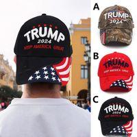 U.S 2024 Trump Elezione presidenziale Elezione presidenziale Cappuccio di elezione Trump Cappello da baseball Berretto da baseball Regolabile Rebubund Cotton Sports Cap FY6036