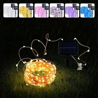 Strings Outdoor Garland Street LED Solar String Lights Are Used As Christmas Decoration For Family Indoor Holiday Lighting