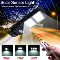60W 120-LED-Solarsensor Outdoor-Licht mit Beleuchtungssteuerung und Radar-eingebauten Sensoren schwarz
