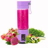 Máquina eléctrica portátil 380ml Hogar inteligente Juicer de fruta máquina mezclador de jugo de vegetal USB Recargable de la copa de procesador de alimentos GWD5269