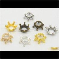 100pcs Fashion Standing Crown Distanziatore perline per gioielli che fa il braccialetto collane borse accessori per capelli gioielli fai da te trovare vgo0t 2FXGZ