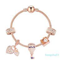 2020 новый стиль пандоры шарм браслет женские моды бусины браслет браслет покрытием розовое золото DIY подвески браслеты ювелирные украшения девушки свадьба