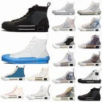 2021 Designer Uomo Donne Scarpe da scarpe da ginnastica Boots Obliqui Pelle tecnica Pelle Tecnica Alta B23 Fiori Piattaforma All'aperto Casual Scarpe da uomo Vintage P9QK #