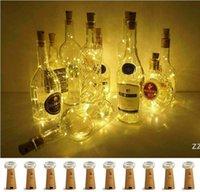 Weinflasche Beleuchtung mit Kork 10 Packung 20 LED Batteriebetriebene LED Korkform 6.6ft Silberdraht Fairy Mini String Lights für Weihnachten HWA9493