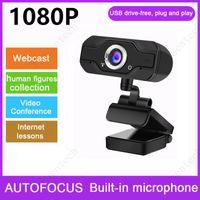 HD 1080P Webcam mit Mikrofon-USB-Fahrer-freier Computerkamera für Live-Broadcast-Videoaufruf-Konferenzarbeit für PC-Laptop
