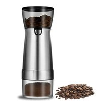 Electric Coffee Grinders USB Rechargeable Grinder Stainless Steel Professional Bean Mill Machine For Nuts Beans Spices Grains Pepper