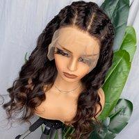 موجة Remy Remy العذراء مجعد موجات البائع الجملة الباروكات البرازيلي الطبيعي الأسود الشعر البشري للمرأة أمامي 360 الدانتيل الباروكة