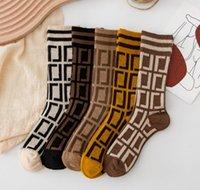 Designer Mens Womens Calze da donna Ricamo Brand Lettera Stampa Casual Casual Autunno Puro Pure Cotone Sport lavorato a maglia Calda Inverno Moda Moda Comfortable Sock Calze