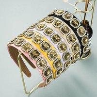 Girls Hair Accessories Sticks Headbands Teenage Children Kids Flower Rhinestone Head Bands Fashion Boutique B6413